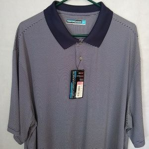 Roundtree & Yorke Performance Polo Shirt 3XT Navy